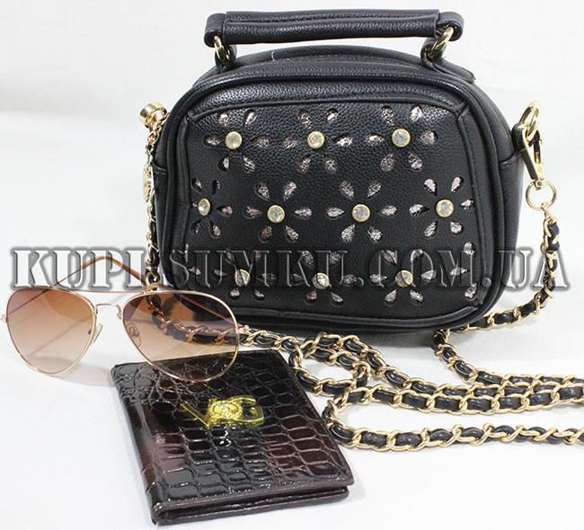 3526cd164439 Ажурный черный клатч с камнями на золотой цепочке - Интернет-магазин