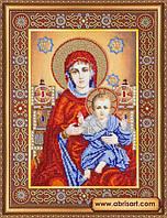 Набор для вышивания бисером икона Венчальная пара Богородица AB-145