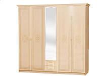 Шкаф 5Д Флоренция (светлый венге лак) (Світ Меблів TM)