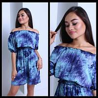 Женское очаровательное платье с открытыми плечиками (3 цвета)