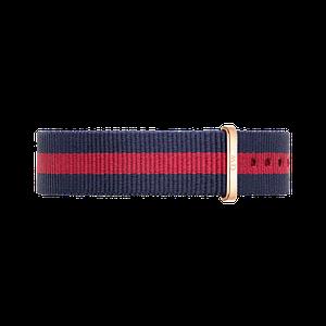 Нейлоновый ремешок Daniel Wellington Oxford 18 mm - Red and Navy Blue