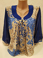 Женская блуза большого размера свободного кроя, фото 1