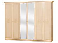 Шкаф 6Д Флоренция (светлый венге лак) (Світ Меблів TM)