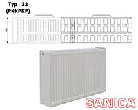 Стальной радиатор Sanica т33 500х1300 (3580Вт) - панельный