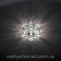 Встраиваемый декоративный светодиодный светильник Feron 1527 G.9 LED подсветкой 2,5W