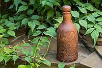 Бутылка для вина Резка, красная глина