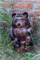 Садовая фигура Мишка на пне, керамика