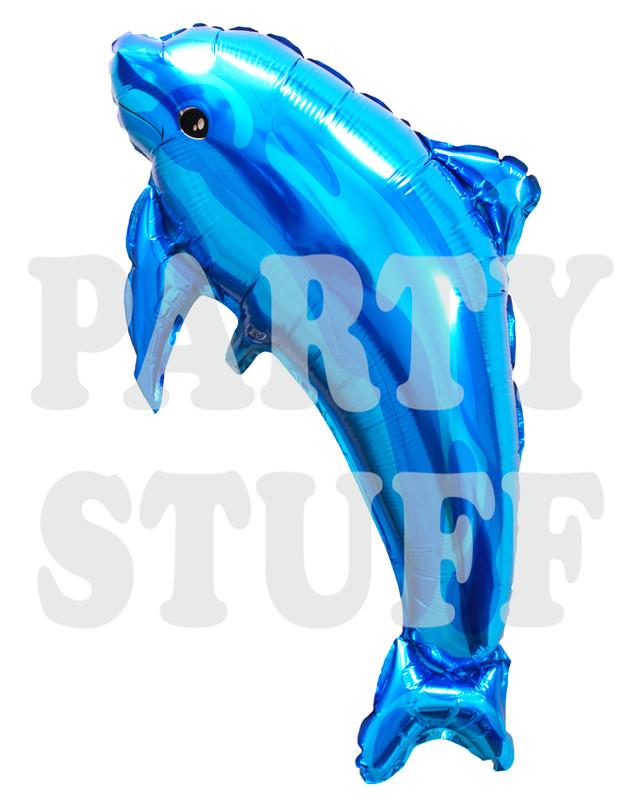 дельфин синий из фольги