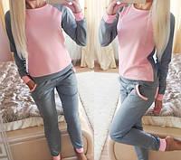 Женский стильный спортивный костюм: кофта и штаны (2 цвета)