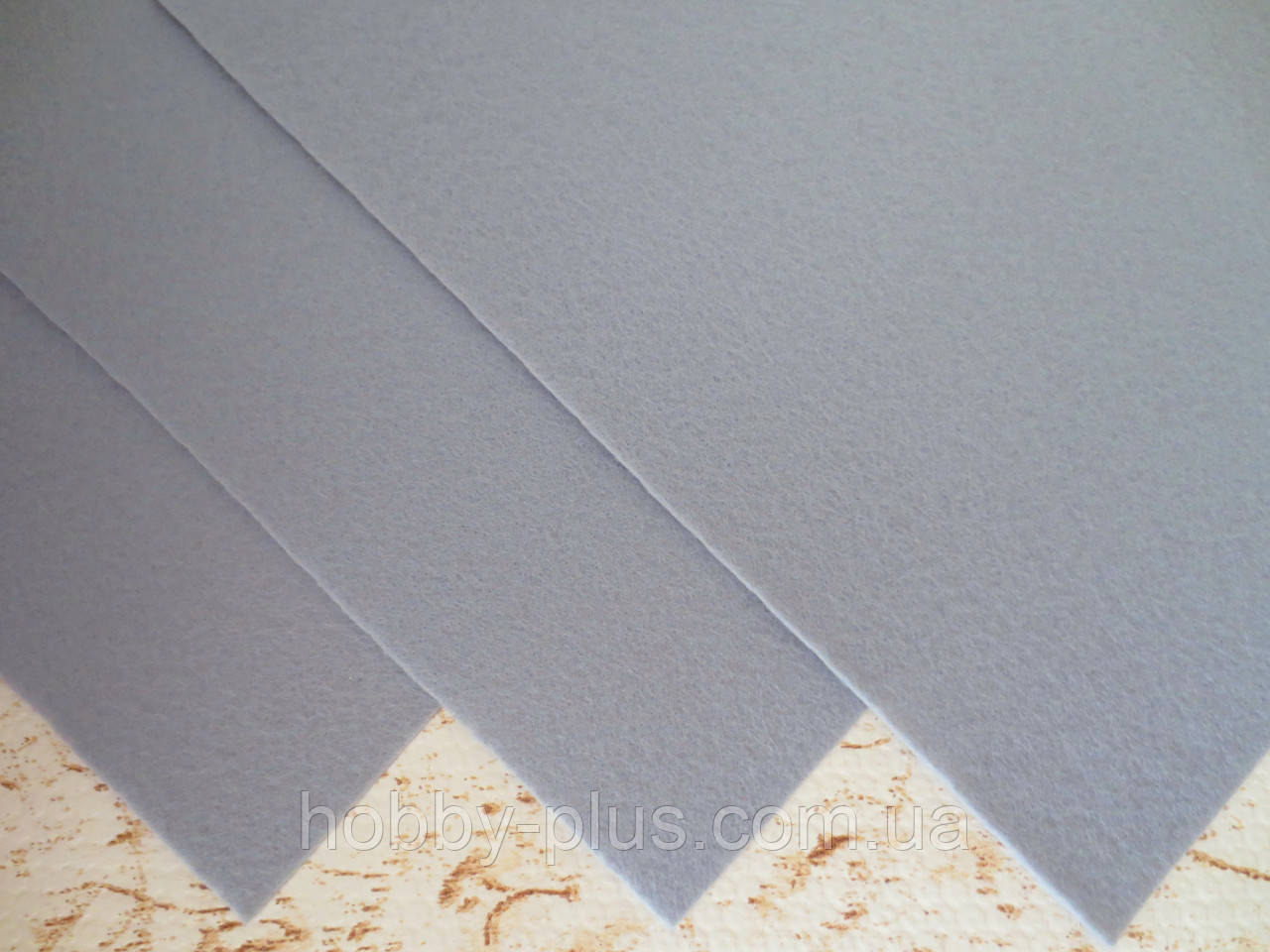 Фетр корейский жесткий 1.2 мм, 20x30 см, СЕРЫЙ