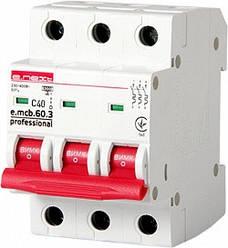 Модульный автоматический выключатель e.mcb.pro.60.3.C 40 new 3р 40А C 6кА new