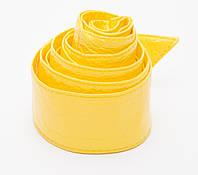 Яркий женский желтый пояс под лак