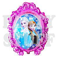 Фольгированный шар Холодное сердце розовый, 70 см
