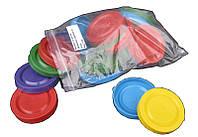 Крышка полиэтиленовая цветная в упаковке по 20 штук