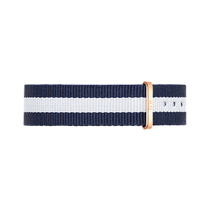 Нейлоновый ремешок Daniel Wellington Glasgow 18MM Blue and White