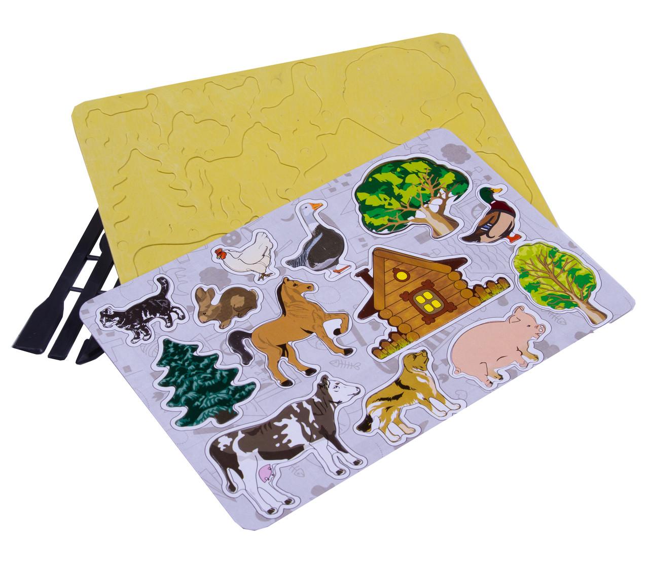 Доски магнитные для пластилина (трафарет + стеки для детского творчества)