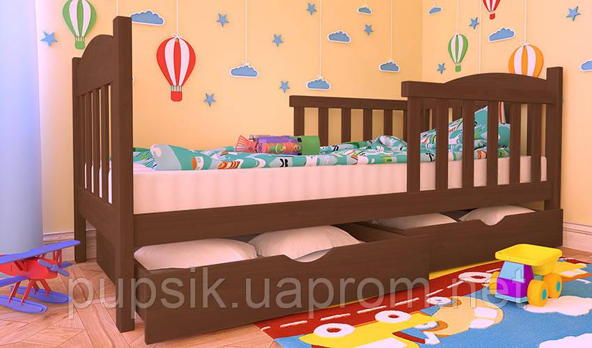 Кровать подростковая Флави Люкс Woodland с защитным бортиком