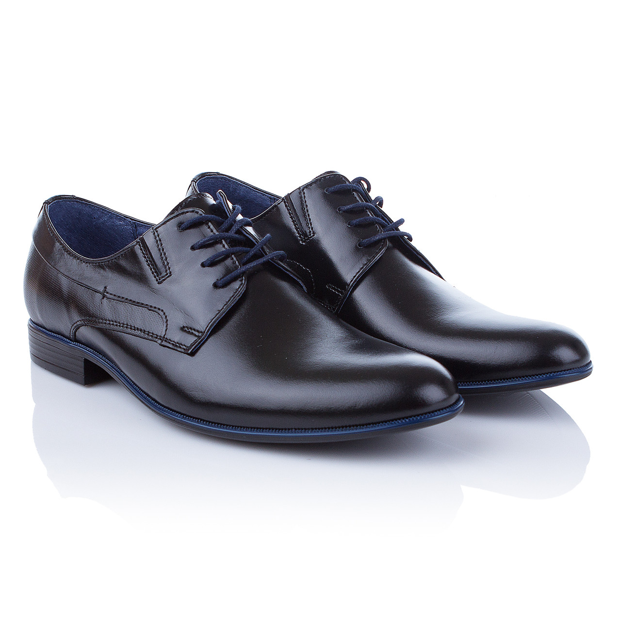 717282f09 Стильные мужские туфли Tapi (модные, на шнурках, с оригинальной синей  окантовкой подошвы, удобные, комфортные)