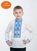 Изумительная вышиванка для мальчика с 100% льна