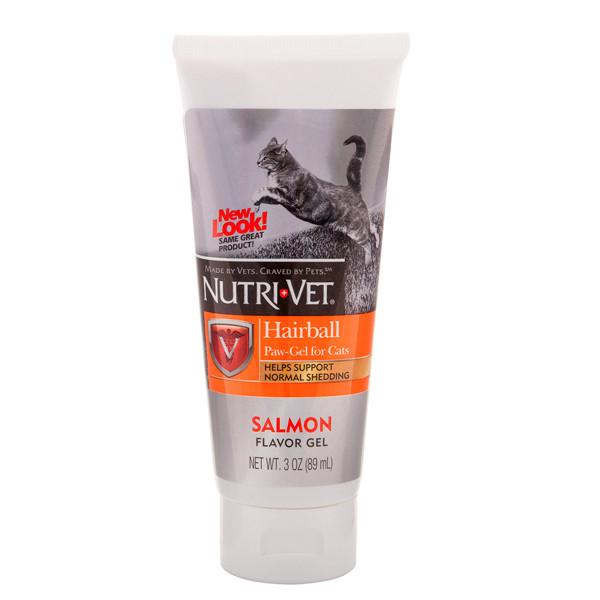 Nutri-Vet Hairball Salmon flavor ВИВЕДЕННЯ ШЕРСТІ ГЕЛЬ З ЛОСОСЕМ вітамінна добавка для кішок, гель, 89 мл