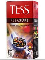 Чай Tess Pleasure черный с шиповником и яблоком пакетированный 25 шт 909383