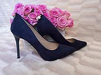 Туфли-лодочки, синие 103