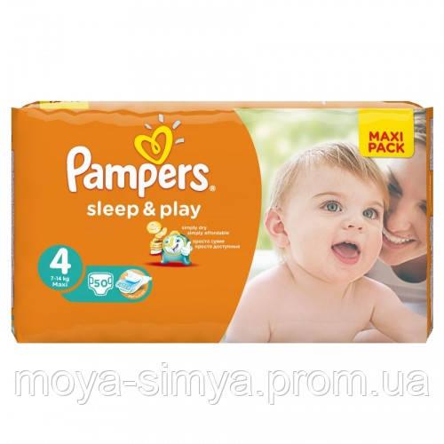 Подгузники PAMPERS Sleep   Play Maxi 4 (7-14 кг) Макси Пак 50 шт ... 9cba7a590c5
