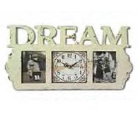 Часы-фоторамка настенный деревянный Мечта