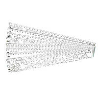 Линейка пластиковая алгебра 30 см СПЕКТР