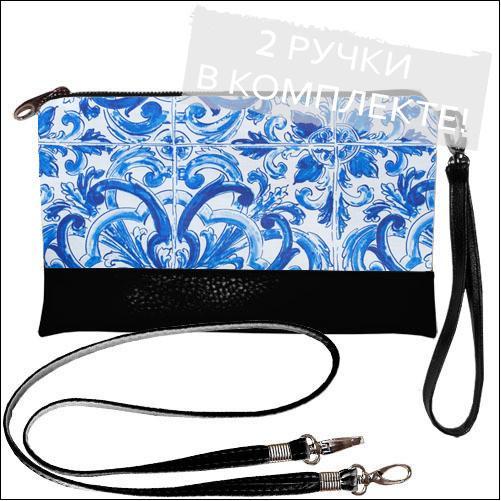 Женская сумочка клатч с принтом