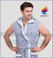 Халат без рукавов мужской под заказ (от 50 шт.)