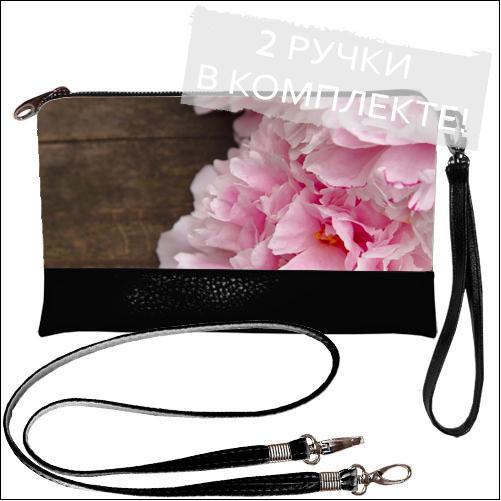 Женская сумочка клатч - Пион