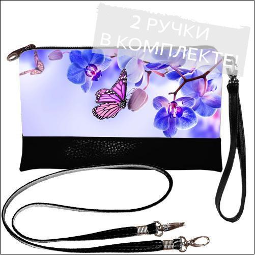 Женская сумочка клатч - нежная Орхидея