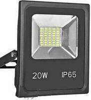 Светодиодный прожектор 20W черный, Лед светильник уличный