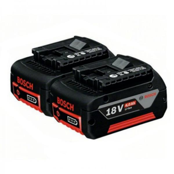 Аккумулятор Bosch Li-Ion 18 В, 4,0 Ач 2 шт, 1600Z00042
