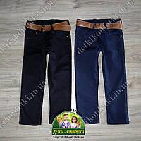 Джинсы брюки синие с ремнем для мальчика