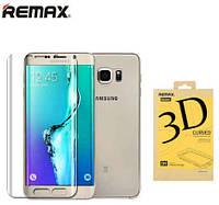 Комплект Remax 3D защитные пленки Samsung S6 edge plus  идеальный изгиб (перед+зад)