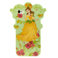 Силиконовый чехол Disney iPhone 4 Flower Princess Green