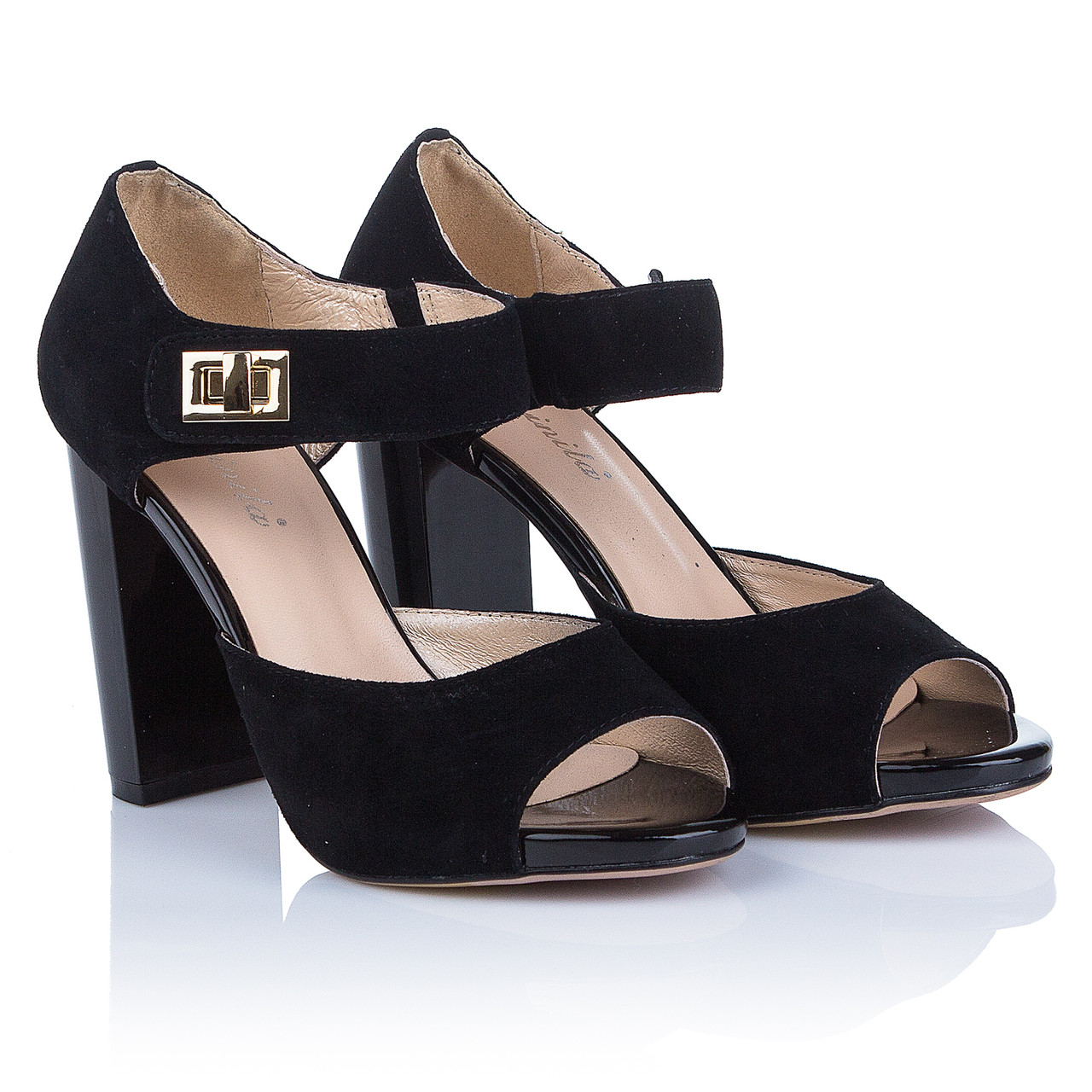 dae5c314d Черные босоножки на толстом каблуке Mainila (элегантные, изысканные,  стильные, модные, комфортные -41%