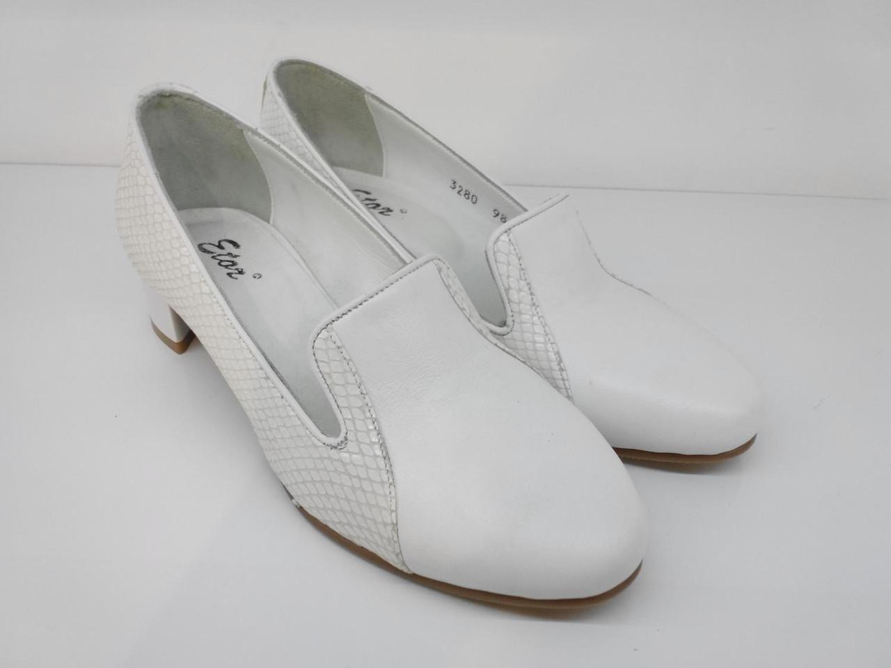 Лоферы Etor 3280 белые