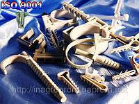 Крепеж для гофро труб и кабеля 32 мм БЕЛЫЙ И СЕРЫЙ