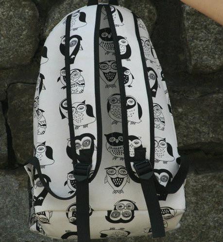 Стильный школьный рюкзак с совами