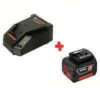 Аккумулятор Bosch Li-Ion 18 В, 4,0 Ач + зар. устр AL1860 CV, 1600Z00043