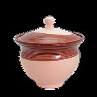 Горшок глиняный (макитра) с крышкой Gloss CA05 Покутская керамика