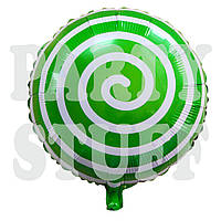 Фольгированный воздушный шар Лоллипоп зеленый, 44 см