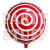 Новогодний воздушный шарик Лоллипоп красный, 44 см
