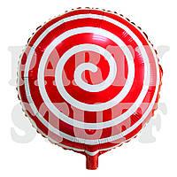 Фольгированный шар Лоллипоп красный, 44 см