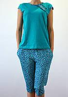 Женская летняя пижама голубая
