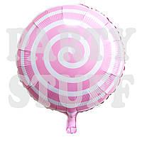 Фольгированный шарик Леденец светло-розовый, 44 см