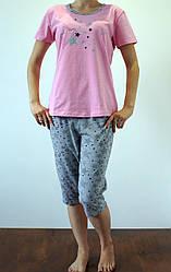 Женская летняя пижама розового цвета